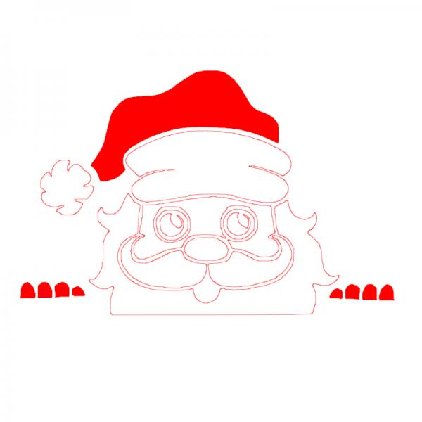 FlexMade Feestdagen Kerst Gluur Kerstman