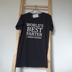 FlexMade Vaderdag Shirt World's best farter i mean father Heren