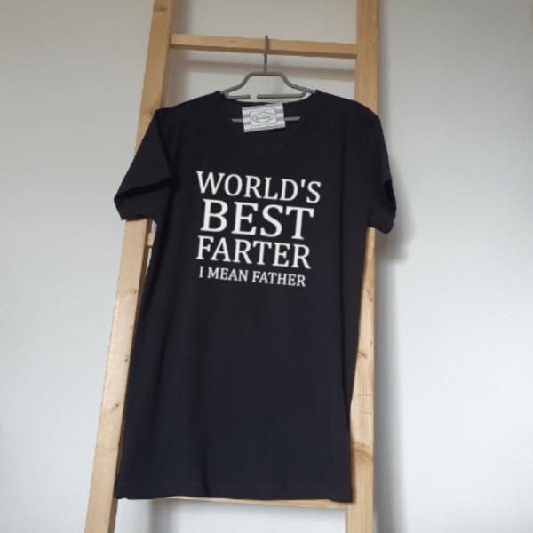 FlexMade Vaderdag Shirt World's best farter i mean father Heren