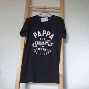 FlexMade Vaderdag Shirt papa the man the myth the legend heren