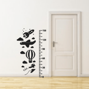 FlexMade Raket Groeimeter Decoratiesticker