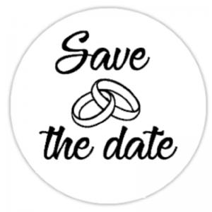 Sluitstickers Bruiloft Save the date FlexMade
