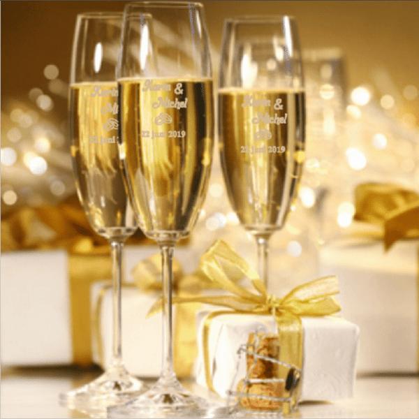 Champagneglas met naam FlexMade Glaswerk