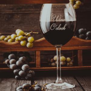 Wijnglas met tekst FlexMade