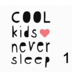 Kleding Romper met tekst Cool kids never sleep keuze 1 FlexMade