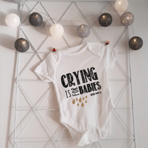 Kleding Romper met tekst Crying is for babies FlexMade korte mouw