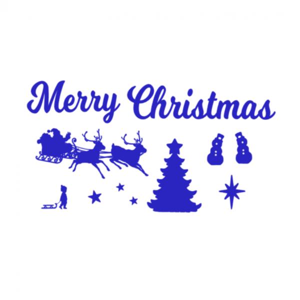 Uitbreidingsset Kerst FlexMade raamfolie blauw