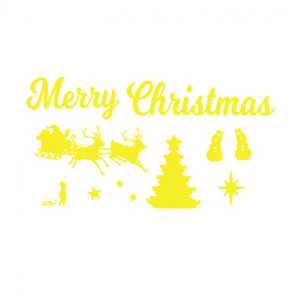 Uitbreidingsset Kerst FlexMade raamfolie geel