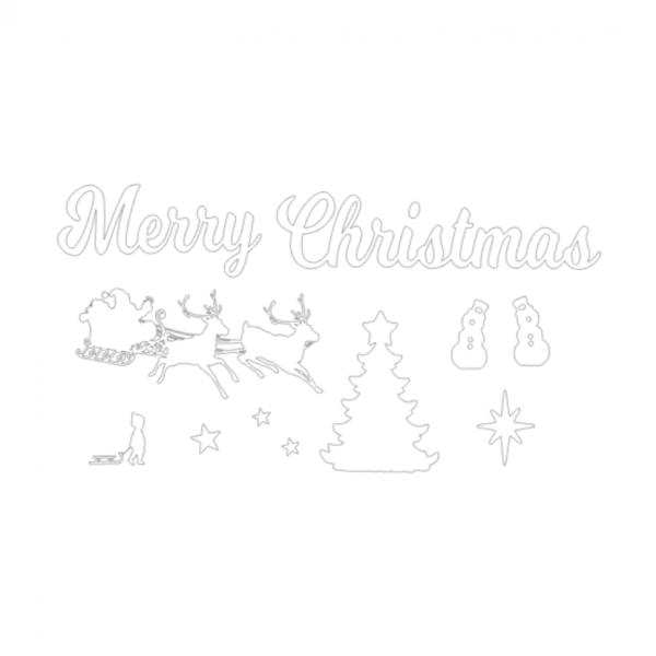 Uitbreidingsset Kerst FlexMade raamfolie wit