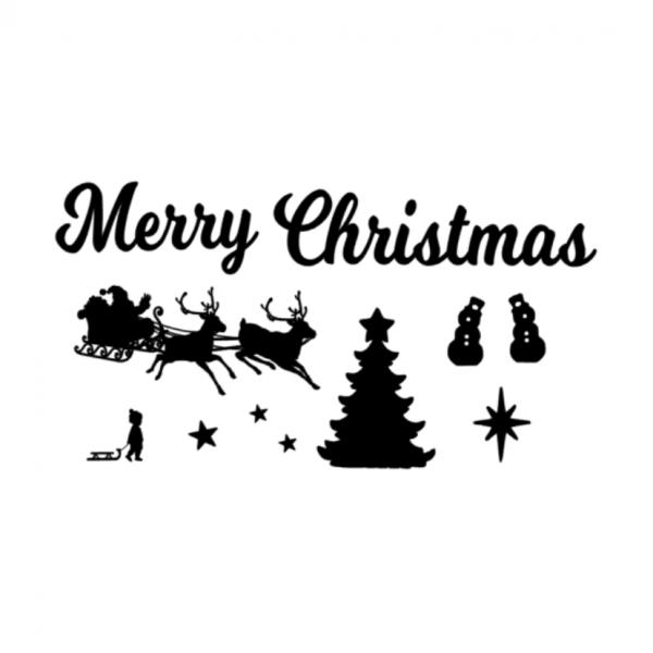 Uitbreidingsset Kerst FlexMade raamfolie zwart