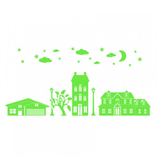 Uitbreidingsset Huisjes FlexMade raamfolie groen