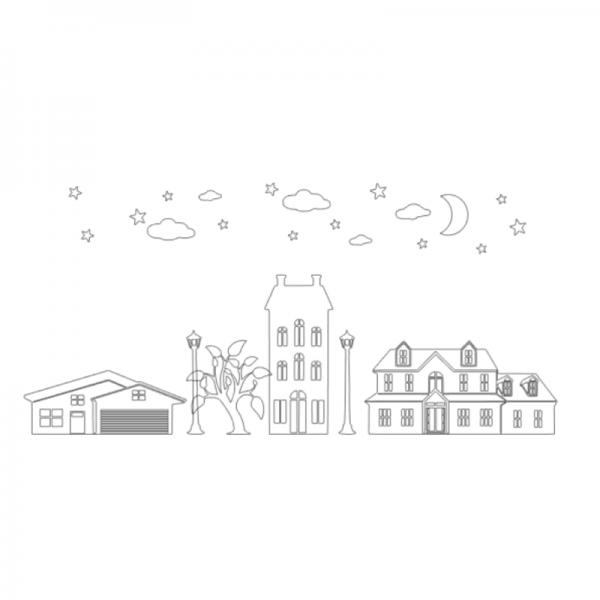Uitbreidinsset Huisjes FlexMade raamfolie wit