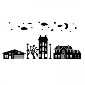 Uitbreidingsset Huisjes FlexMade raamfolie zwart