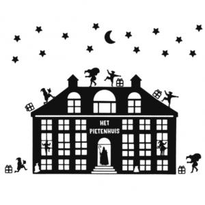 Uitbreidingsset Pietenhuis FlexMade raamfolie zwart