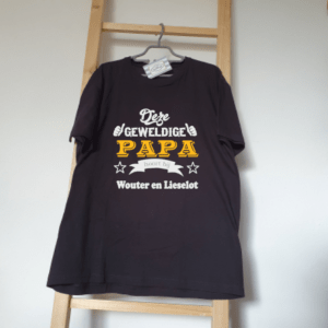 FlexMade Vaderdag Shirt Deze geweldige papa hoort bij Heren