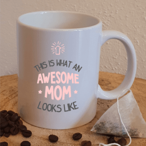 FlexMade Beker Mok This is what an awesome mom looks like beker wit